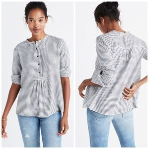 Madewell Market Popover Shirt in Malone Plaid
